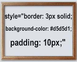как сделать рамку html вокруг текста